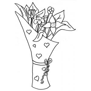 Pin disegno mazzo di rose colorato da judith il 03 for Disegni e prezzi del mazzo