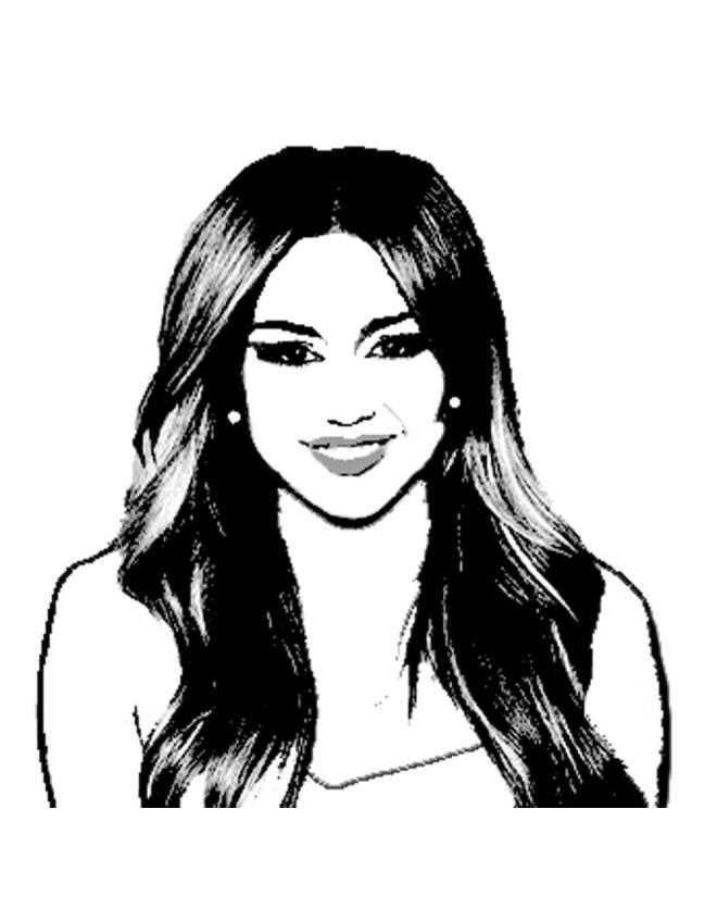 disegno di Miley Cyrus da colorare