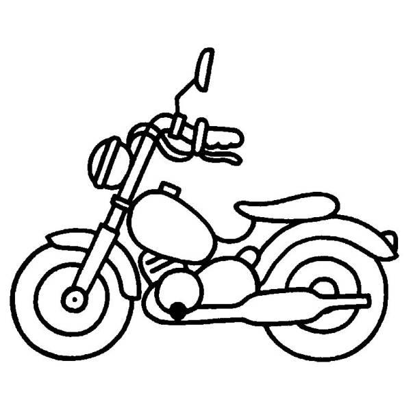 Disegno Di Moto Da Colorare Per Bambini Disegnidacolorareonlinecom