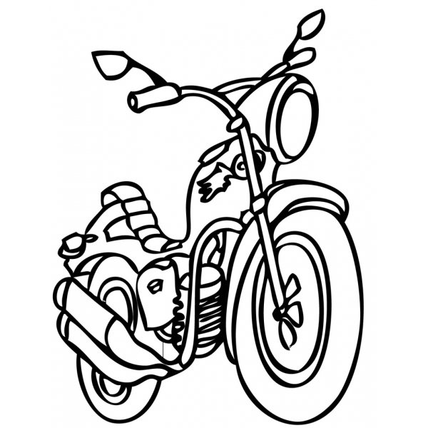 Disegno di Motocicletta da colorare
