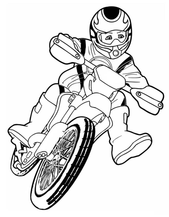 Immagini Di Moto Da Colorare.Disegno Di Motocross Da Colorare Per Bambini