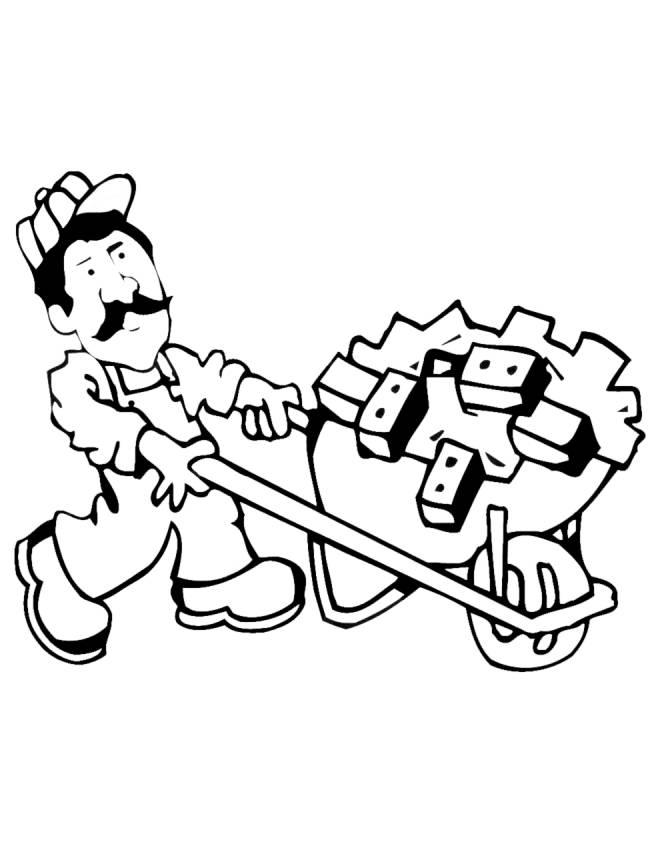 disegno di muratore da colorare per bambini