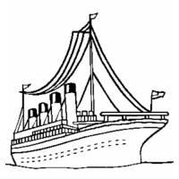 Disegno di Nave per Crociera da colorare