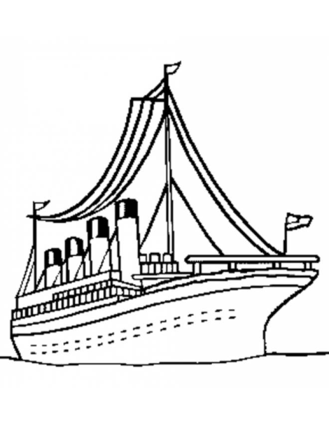 Disegno Di Nave Per Crociera Da Colorare Per Bambini