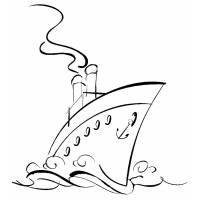 Disegno di Nave da Crociera da colorare