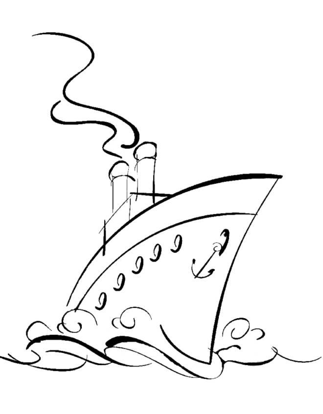 Disegno di nave da crociera da colorare per bambini for Disegno squalo da colorare