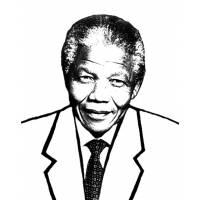 disegno di Nelson Mandela da colorare
