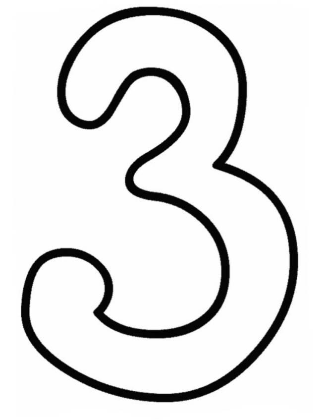 Conosciuto Disegno di Numero Tre da colorare per bambini  IF77