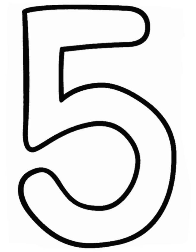 abbastanza Disegno di Numero Cinque da colorare per bambini  NU82