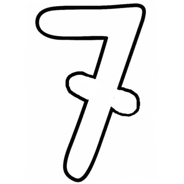 Disegno di Numero Sette da colorare