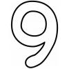 Disegno di Numero Nove da colorare