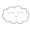 disegno di Nuvola Sorridente da colorare