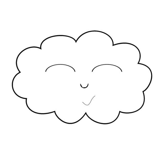 disegno di nuvola sorridente da colorare per bambini