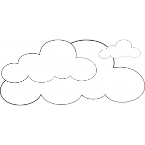 Disegno di Nuvole da colorare