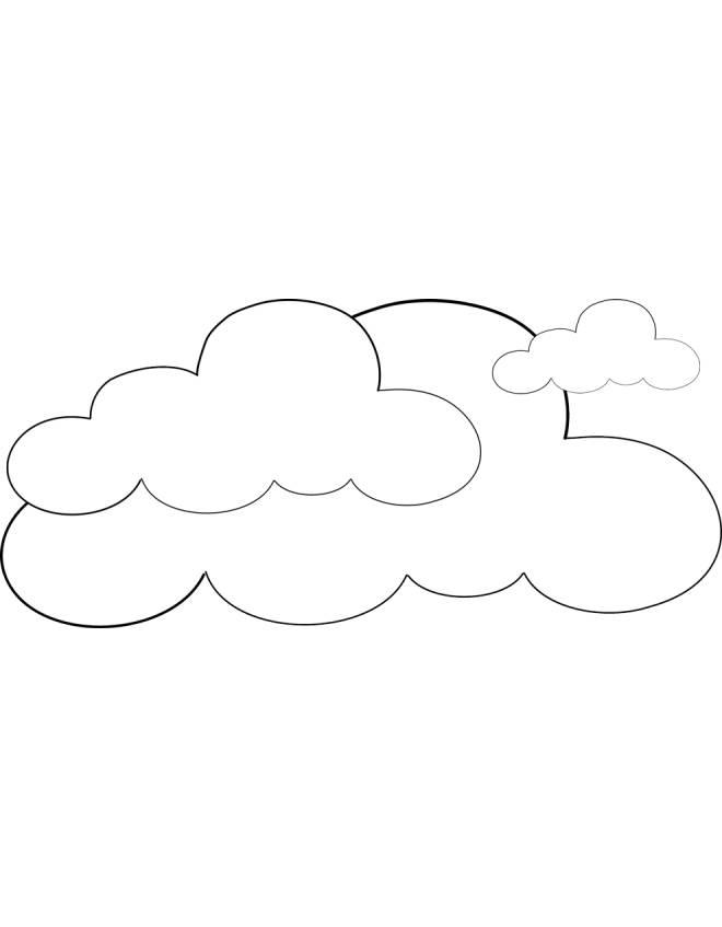 Disegno di nuvole da colorare per bambini for Sole disegno da colorare