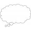 disegno di Nuvola per Fumetto da colorare