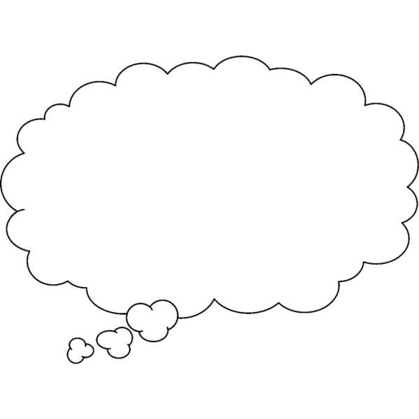 Disegno Di Nuvola Per Fumetto Da Colorare Per Bambini