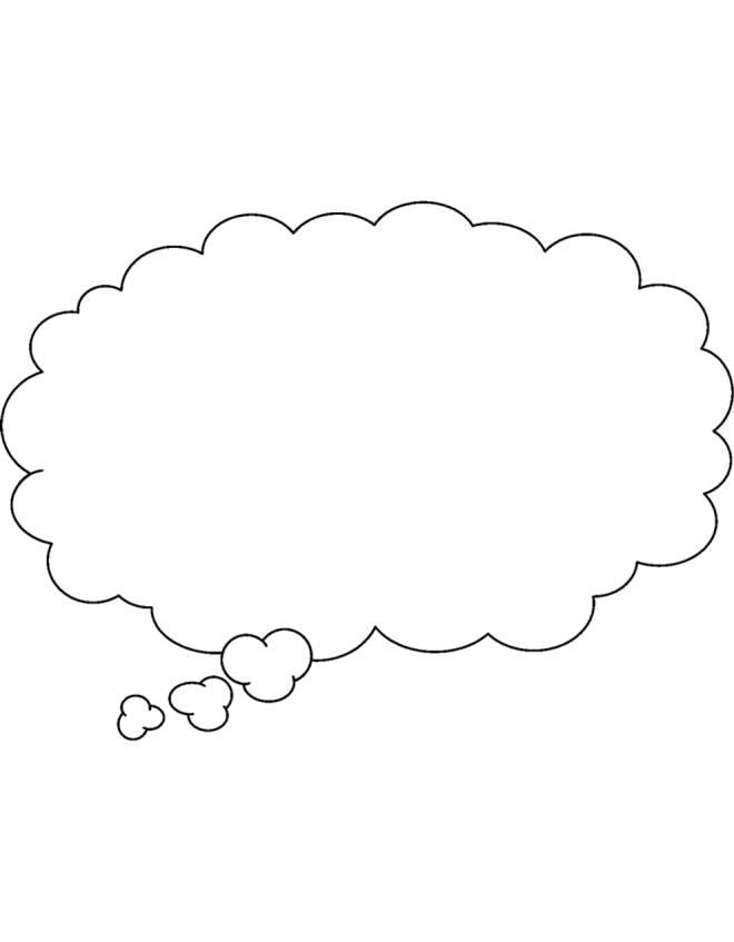 Disegno di nuvola per fumetto da colorare per bambini for Nuvola da colorare