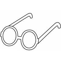 Disegno di Occhiali per Bambini da colorare