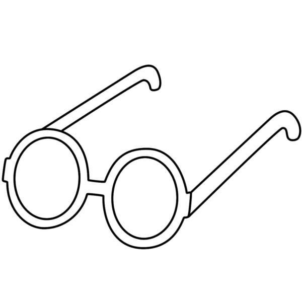 Disegno Di Occhiali Per Bambini Da Colorare Per Bambini