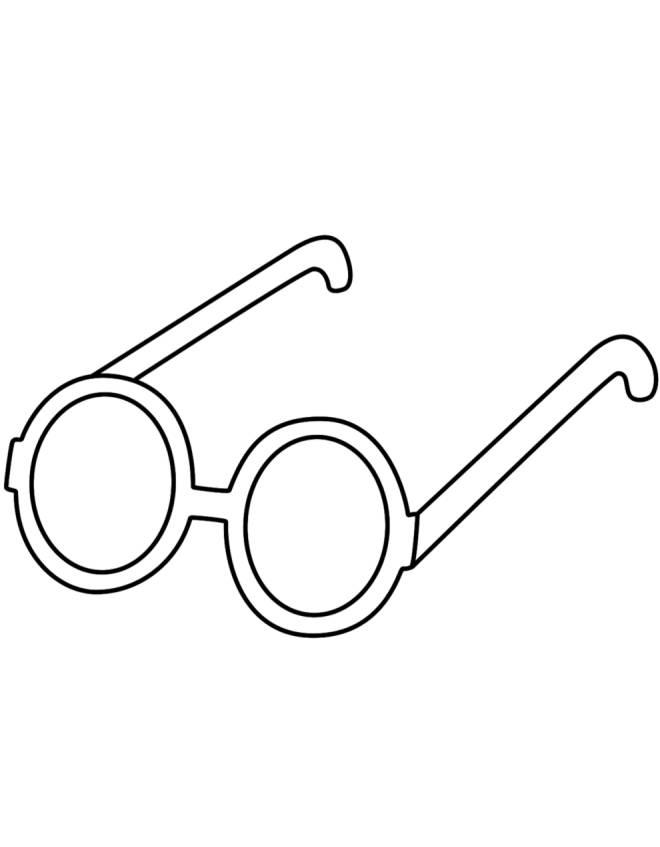 Disegno di occhiali per bambini da colorare per bambini for Sole disegno da colorare