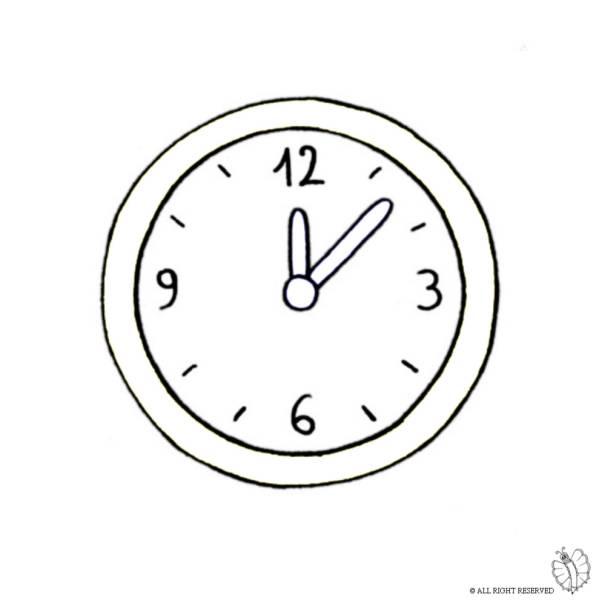Disegno di Orologio a Parete da colorare