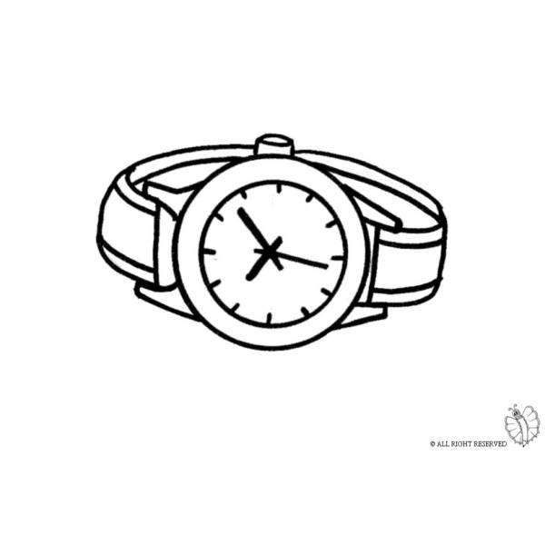Disegno di Orologio Gioielli da colorare