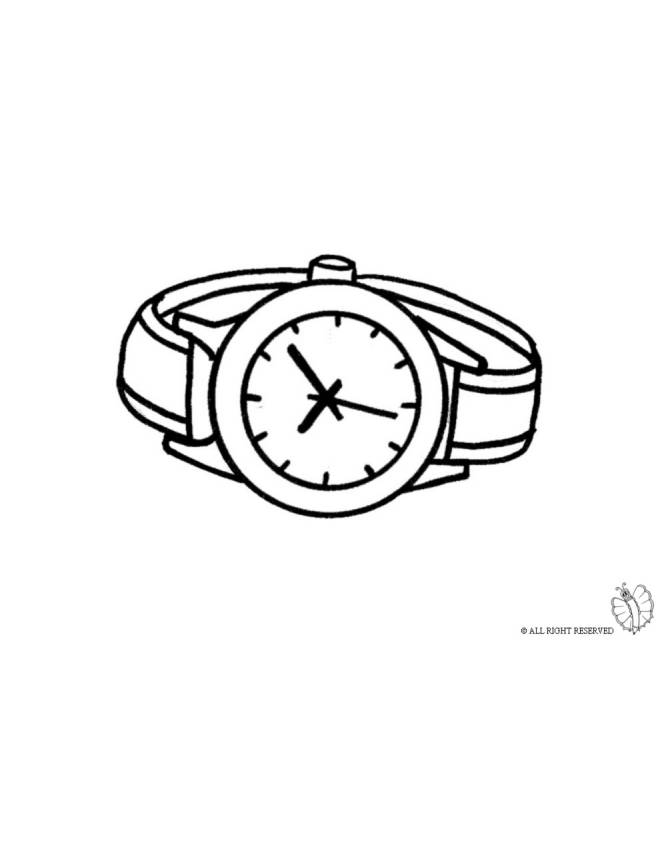 Pocket watch coloring page coloring pages for Watch coloring page