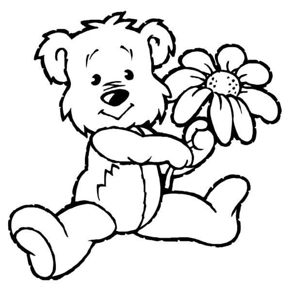 Disegno di orsacchiotto di peluche da colorare per bambini - Orsacchiotto da colorare in ...
