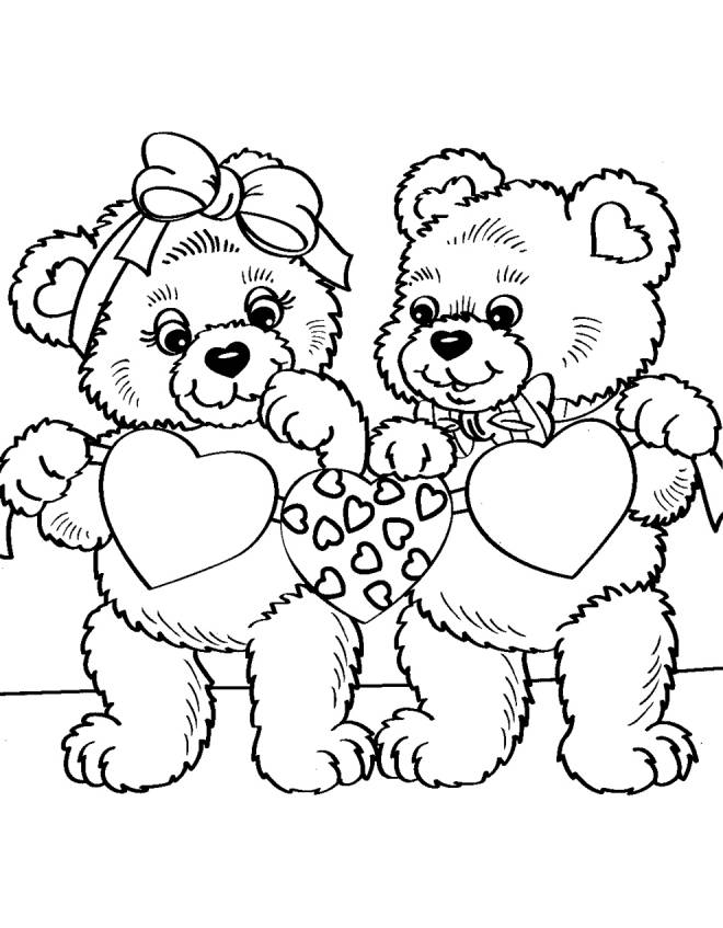 cartoon valentines day coloring pages - photo#41