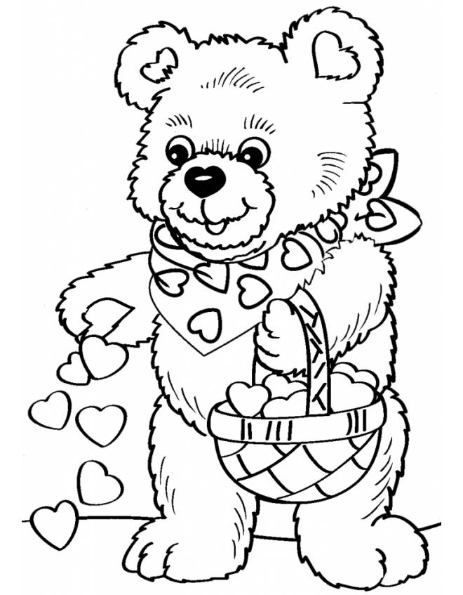 older valentines day coloring pages - photo#15