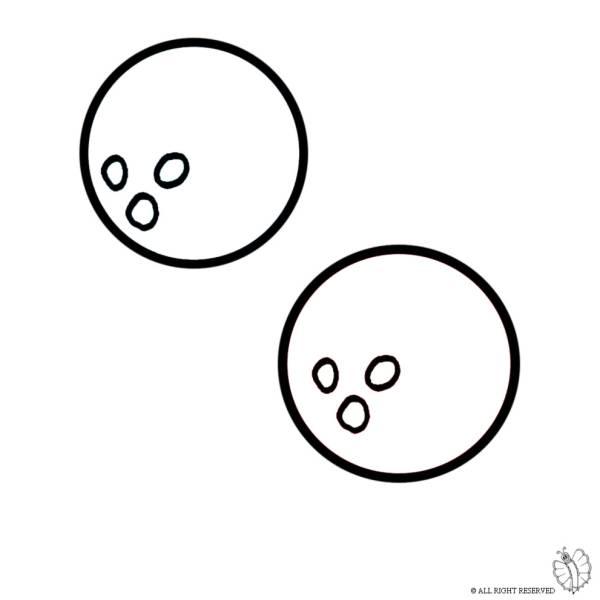 Disegno di Palle da Bowling da colorare