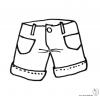 Disegno di Pantaloncini da colorare