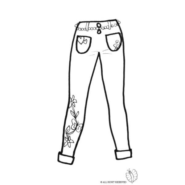 Disegno di Pantaloni Donna da colorare