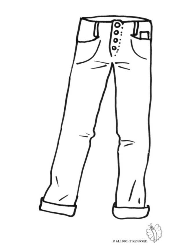disegno di Pantaloni Uomo da colorare