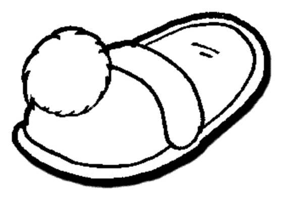 Disegno di pantofole da colorare per bambini for Disegno bambina da colorare