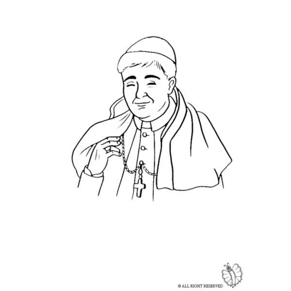 Disegno di Il Papa da colorare