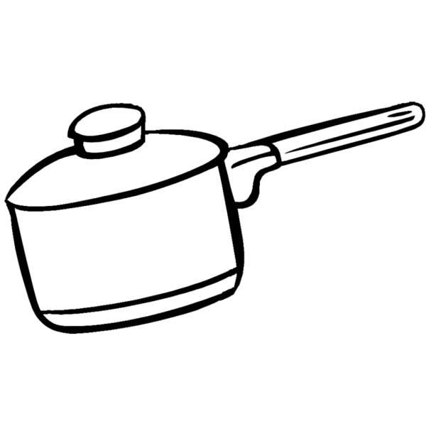 Disegno di pentola per cucinare da colorare per bambini - Disegni per cucina ...