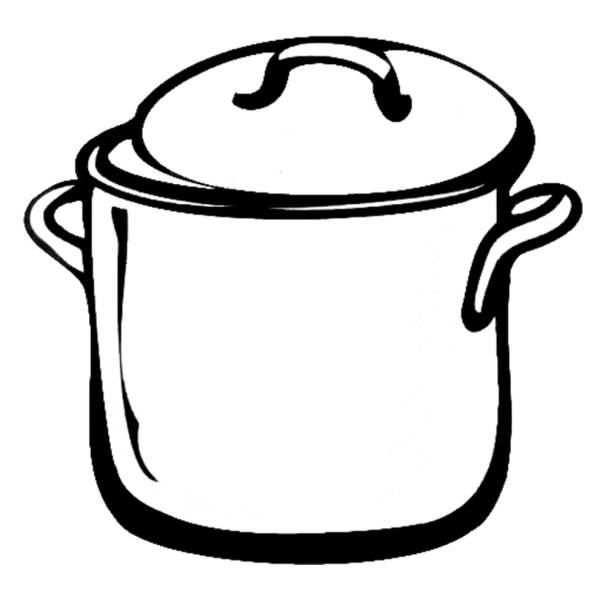 Disegno di pentola da colorare per bambini for Disegni da colorare cucina