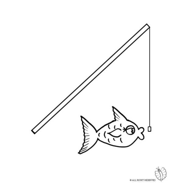 Disegno di A Pesca da colorare