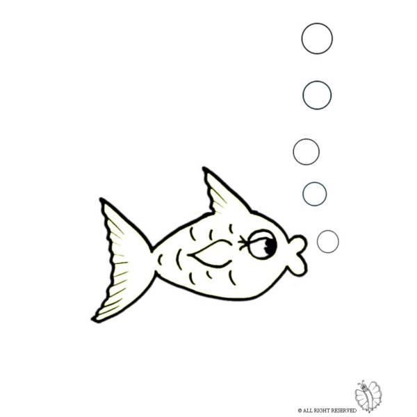Disegno Di Pesce E Bollicine Da Colorare Per Bambini Disegnidacolorareonline Com
