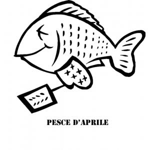 Disegno di Pesce di Aprile da colorare