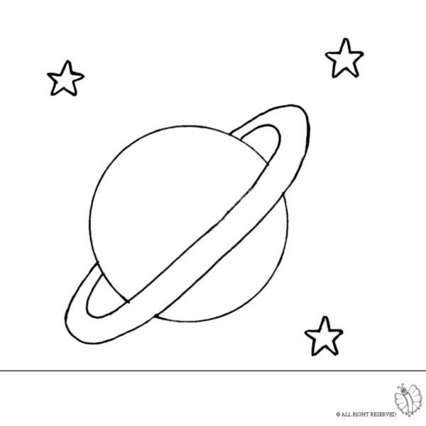 Disegno Di Saturno Da Colorare Per Bambini Disegnidacolorareonline Com