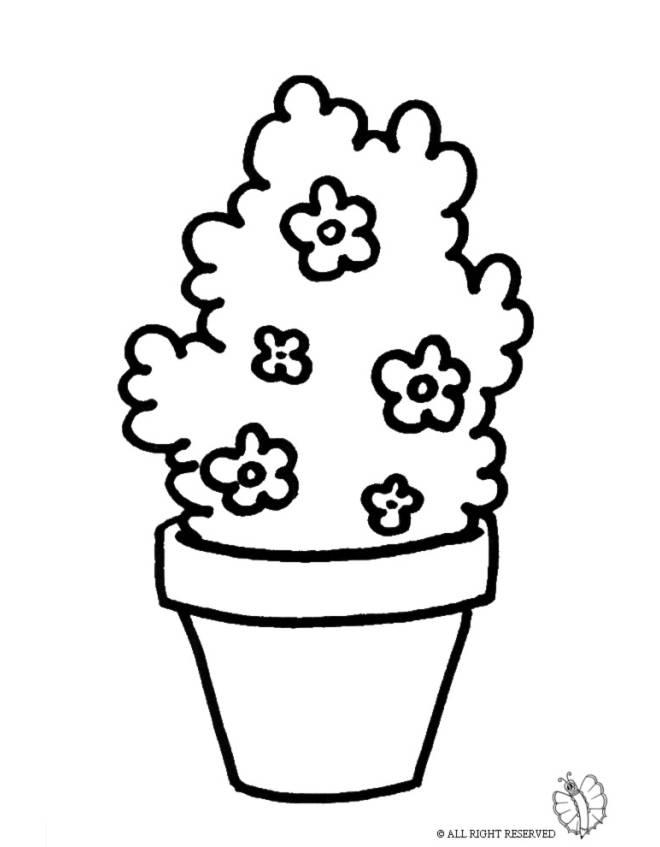 Disegno di pianta di fiori da colorare per bambini for Disegno vaso da colorare