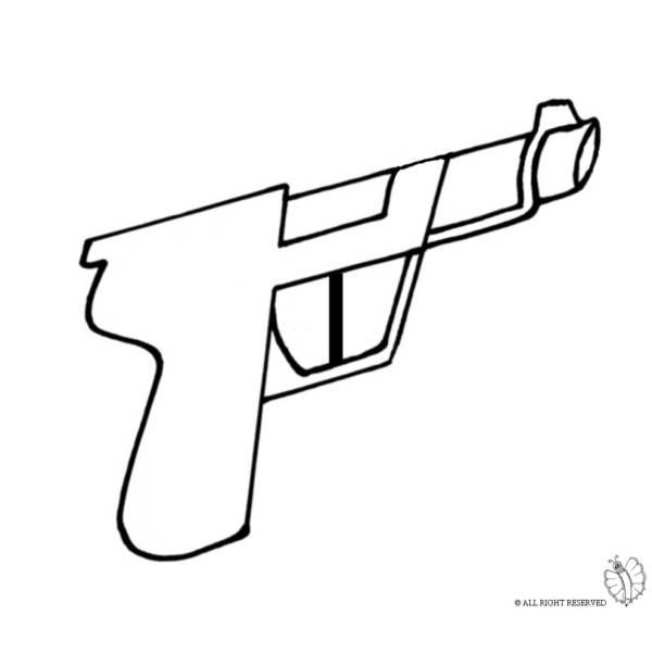 Disegno di Pistola da colorare