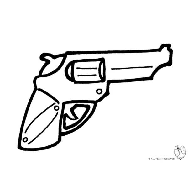 Disegno di Pistola Revolver da colorare