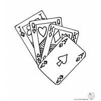 Disegno di Carte da Gioco da colorare