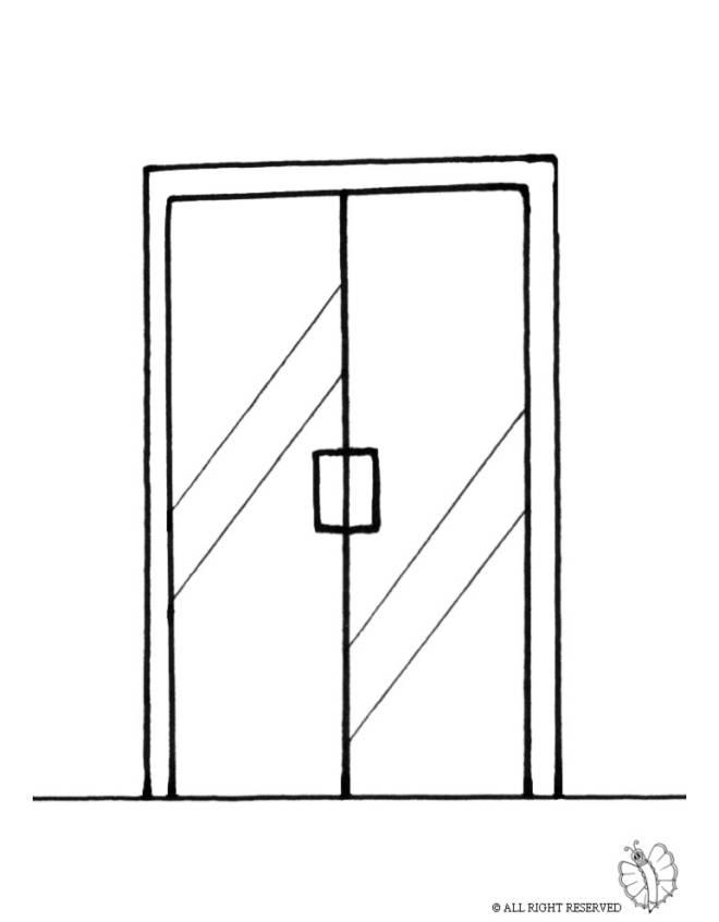 Disegno di porta di vetro da colorare per bambini - Porta da colorare ...