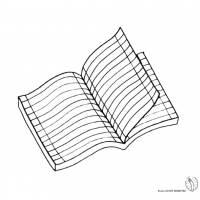 Disegno di Quaderno a Righe da colorare