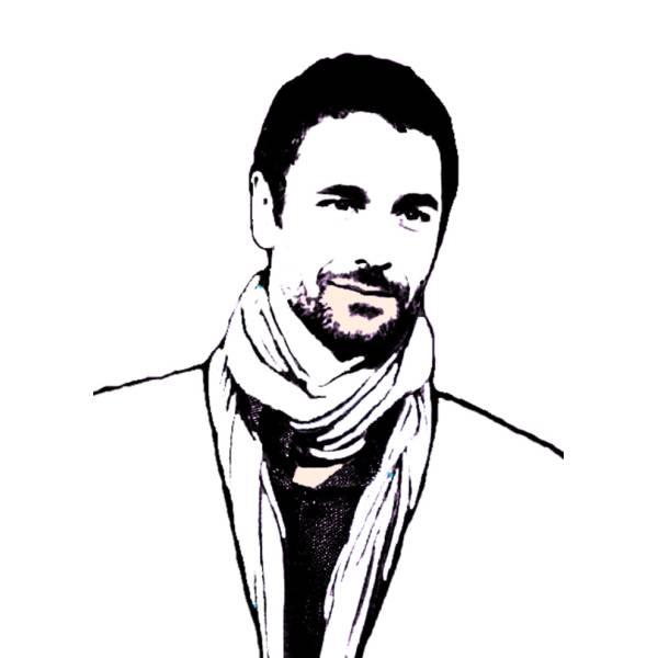 Disegno di Raul Bova da colorare